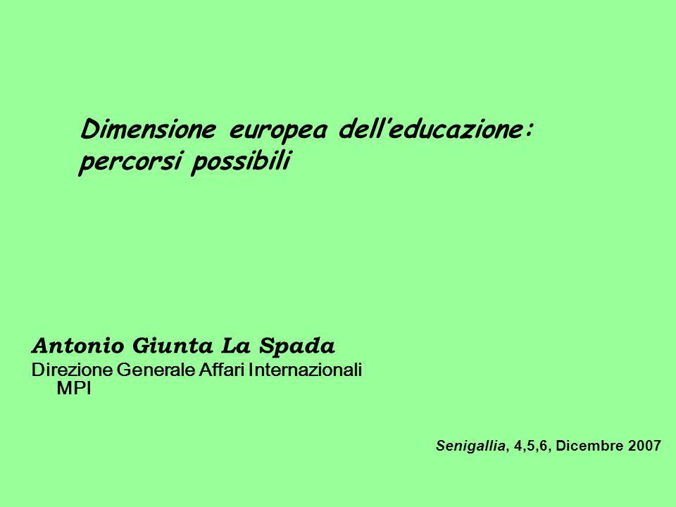 Dimensione europea dell'educazione: percorsi possibili