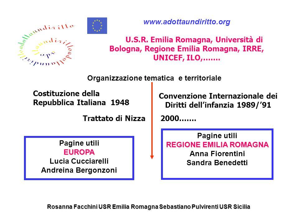 Organizzazione tematica e territoriale