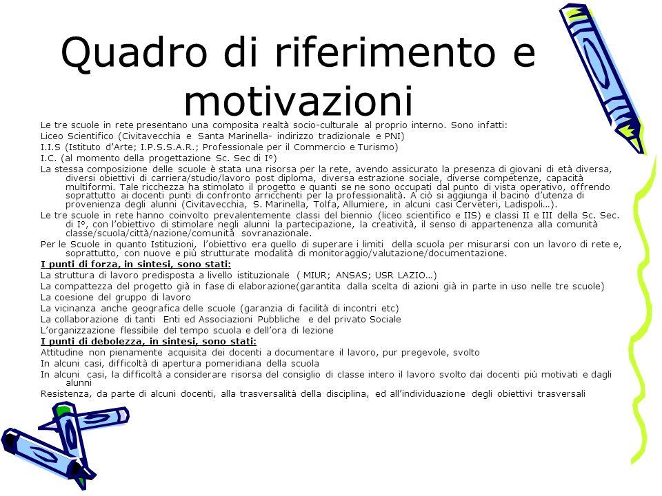 Quadro di riferimento e motivazioni