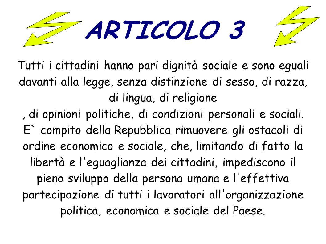 , di opinioni politiche, di condizioni personali e sociali.