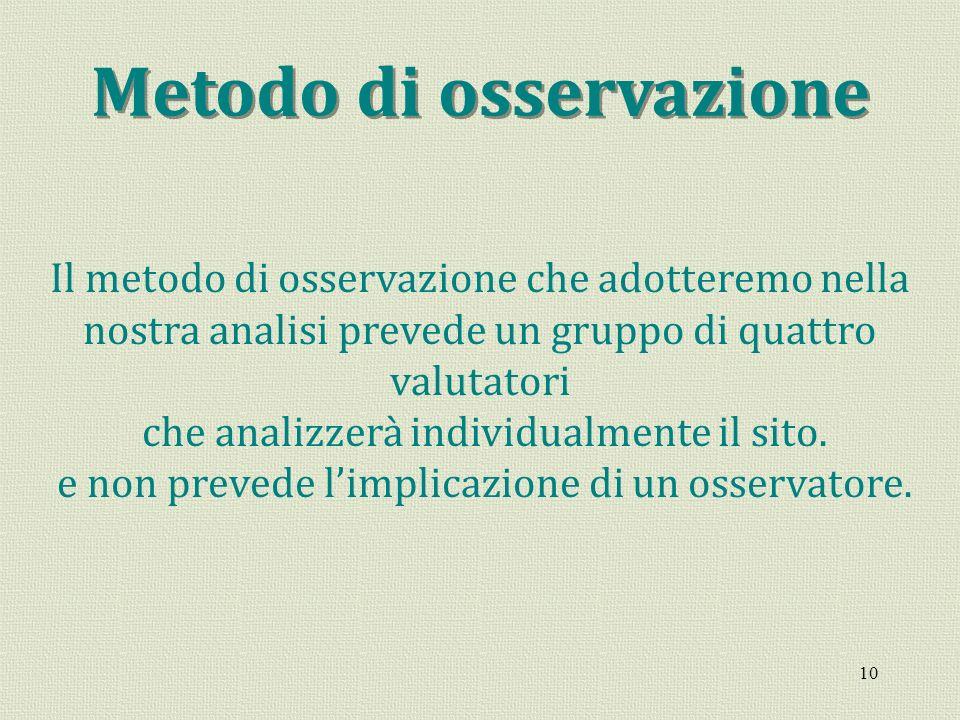 Metodo di osservazione