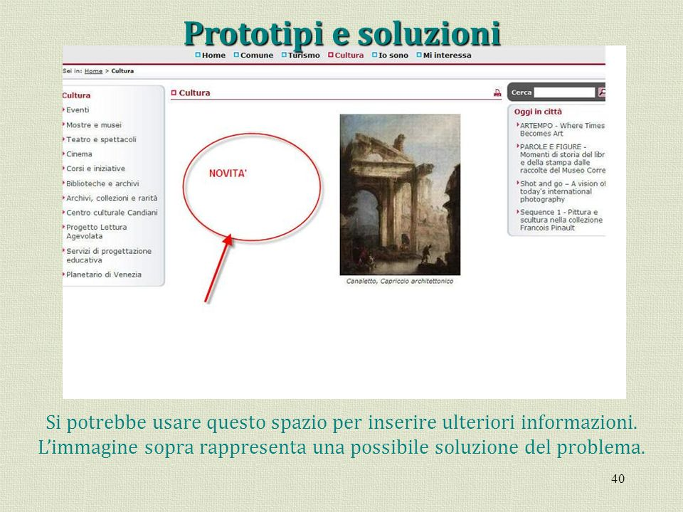 Prototipi e soluzioni