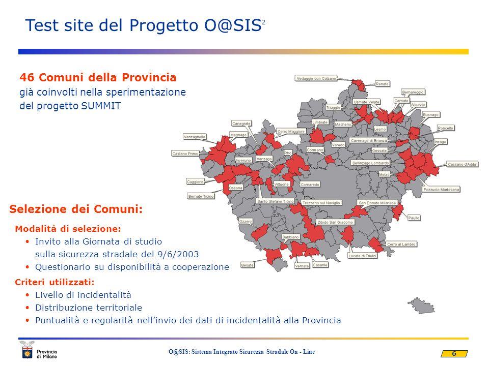 Test site del Progetto O@SIS2