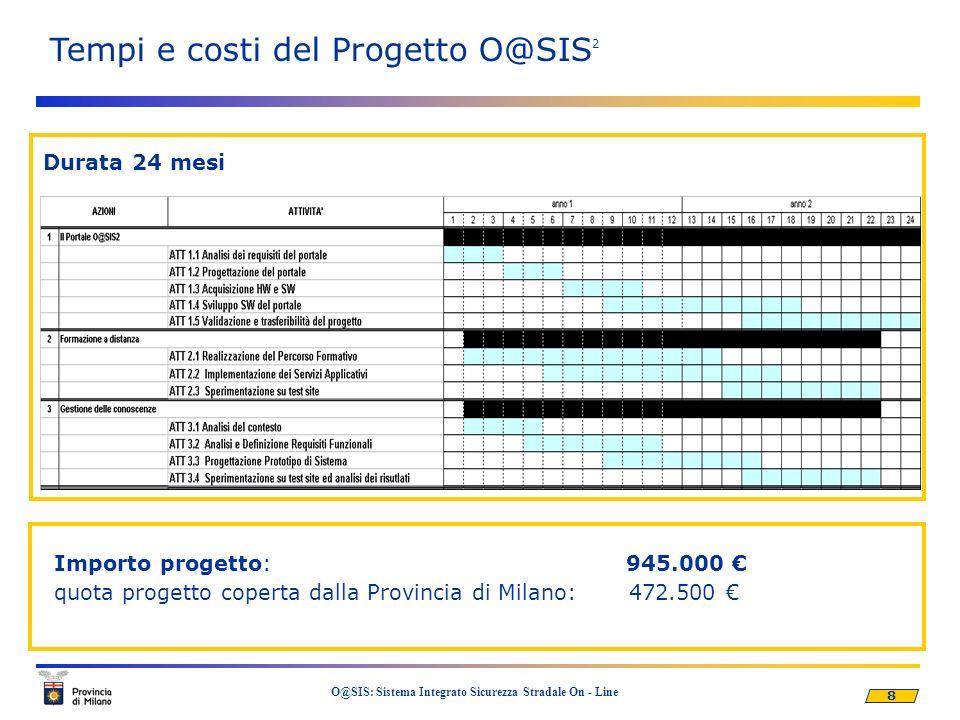 Tempi e costi del Progetto O@SIS2