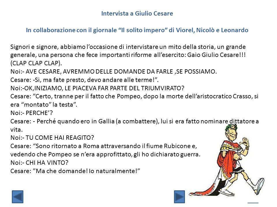 Intervista a Giulio Cesare