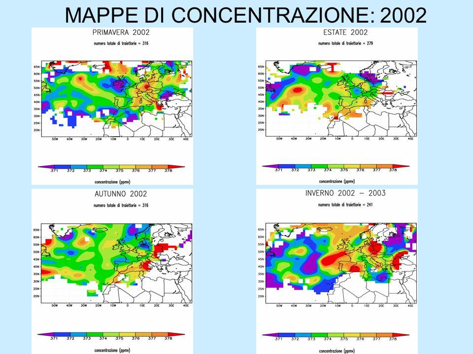 MAPPE DI CONCENTRAZIONE: 2002