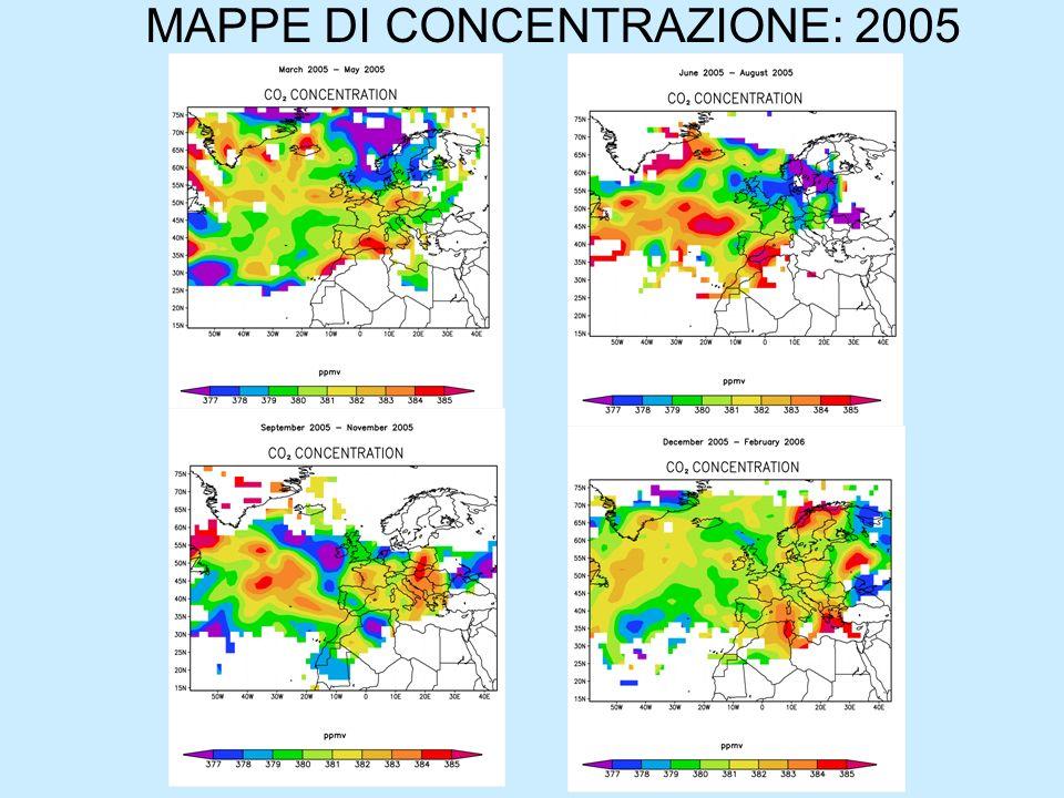 MAPPE DI CONCENTRAZIONE: 2005