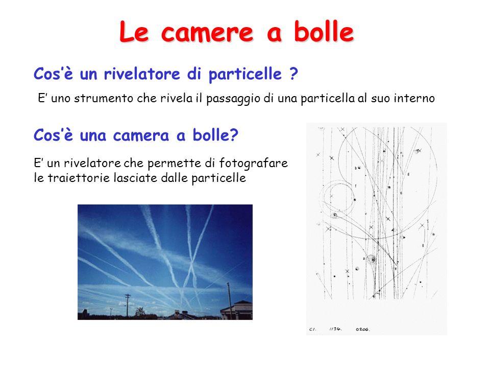 Le camere a bolle Cos'è un rivelatore di particelle
