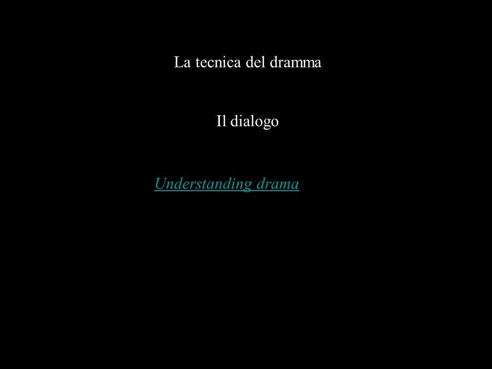 La tecnica del dramma Il dialogo Understanding drama