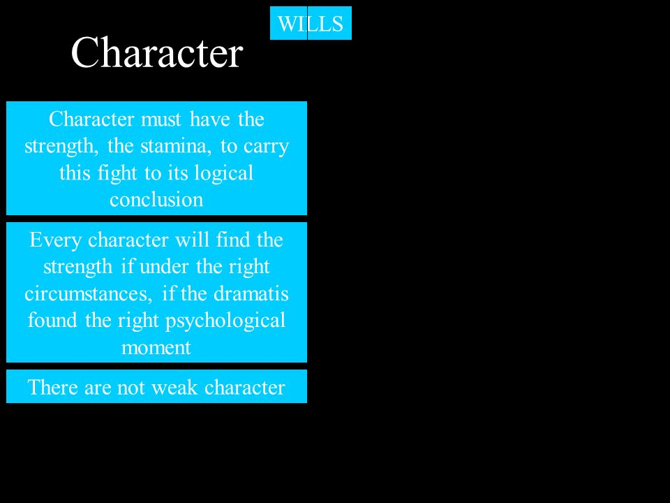 There are not weak character