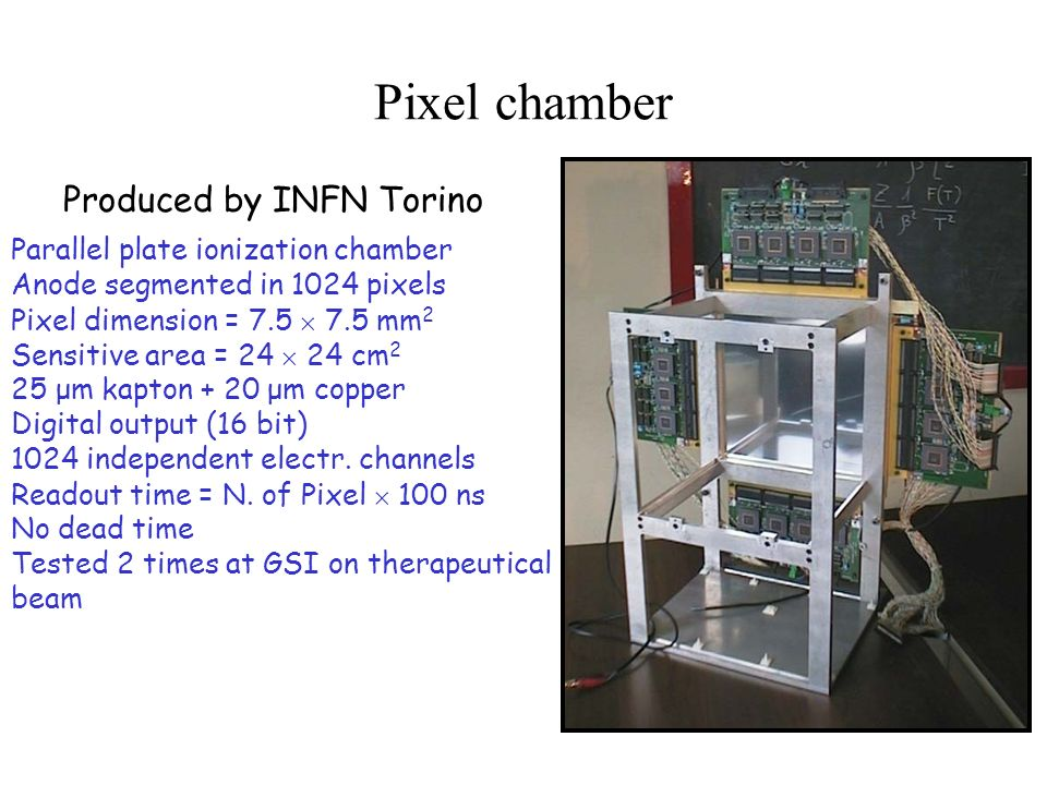 Pixel chamber Produced by INFN Torino