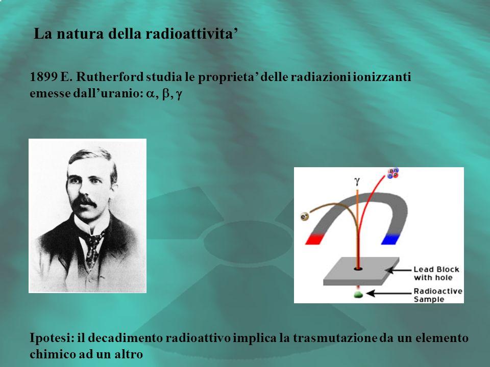 La natura della radioattivita'
