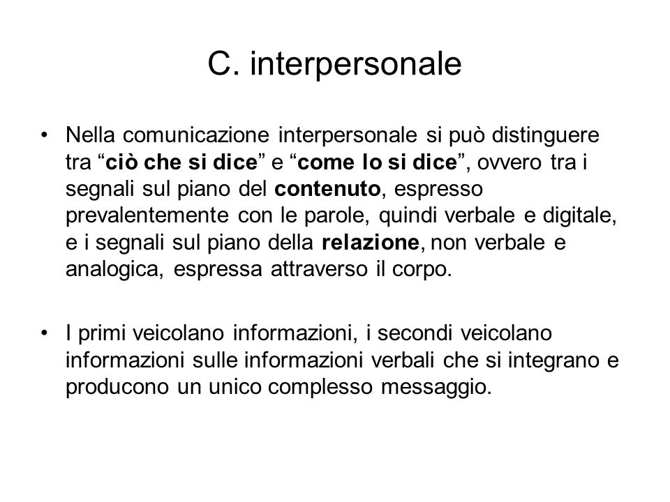 C. interpersonale