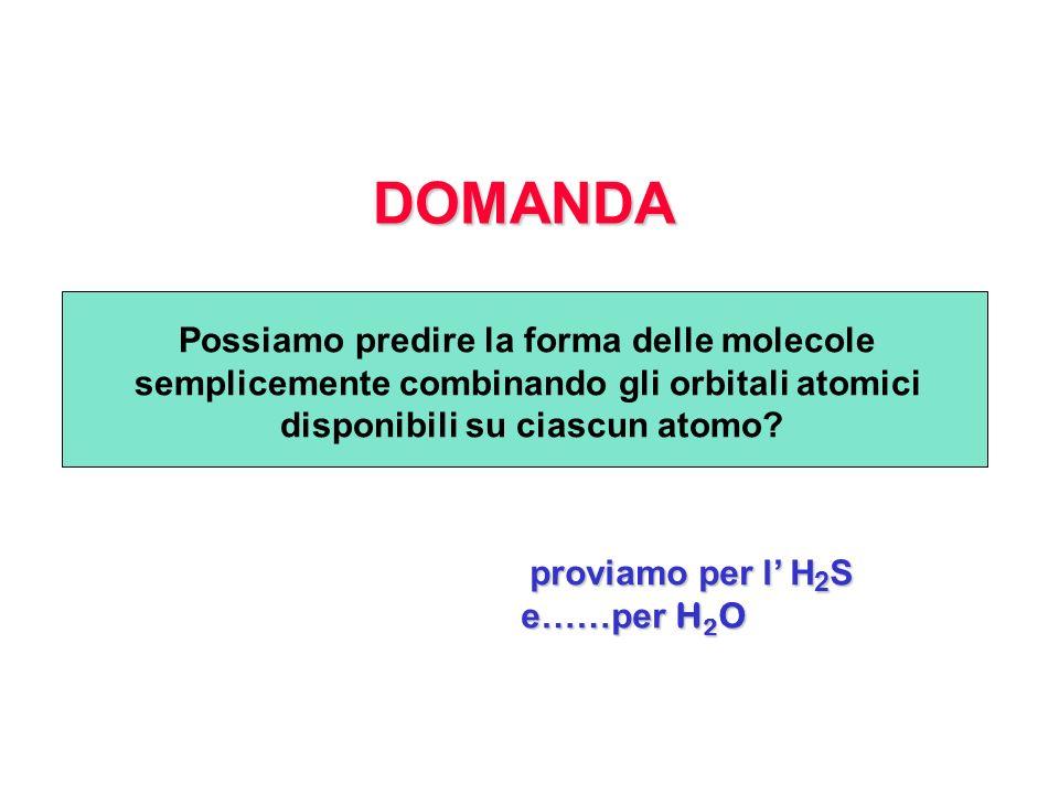 DOMANDA Possiamo predire la forma delle molecole