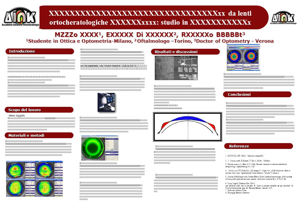 XXXXXXXXXXXXXXXXXXXXXXXXXXXXXXXXxx da lenti ortocheratologiche XXXXXXxxxx: studio in XXXXXXXXXXXx