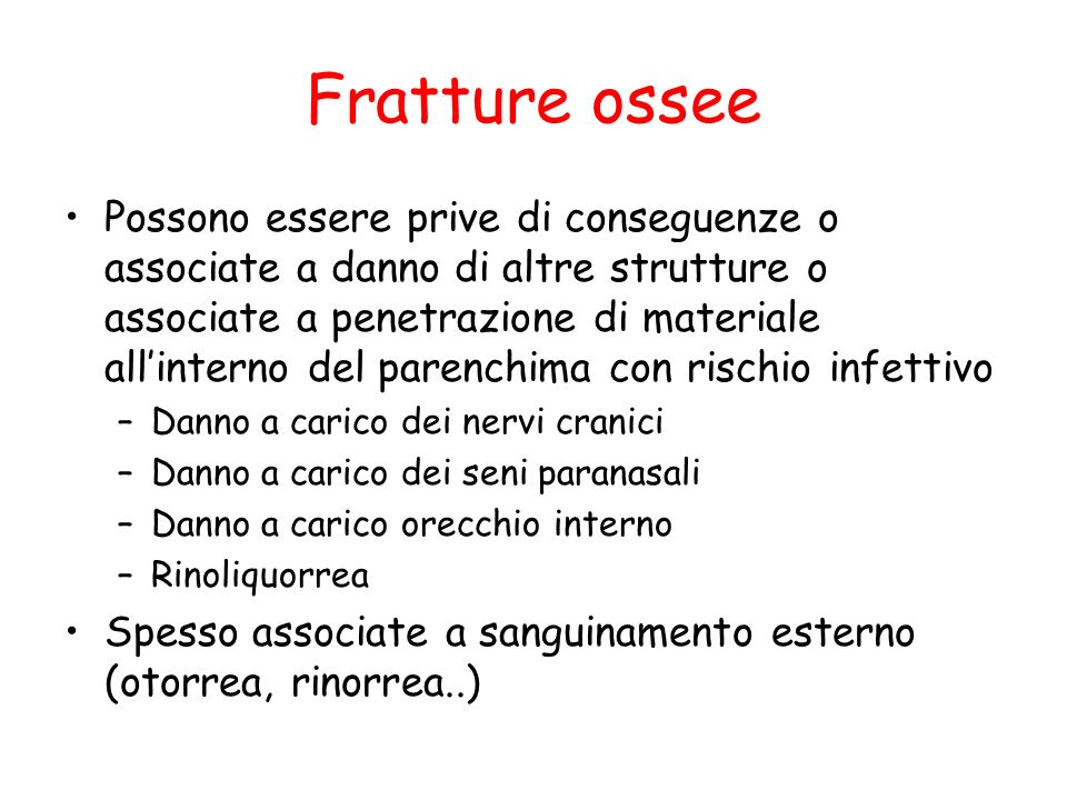 Fratture ossee