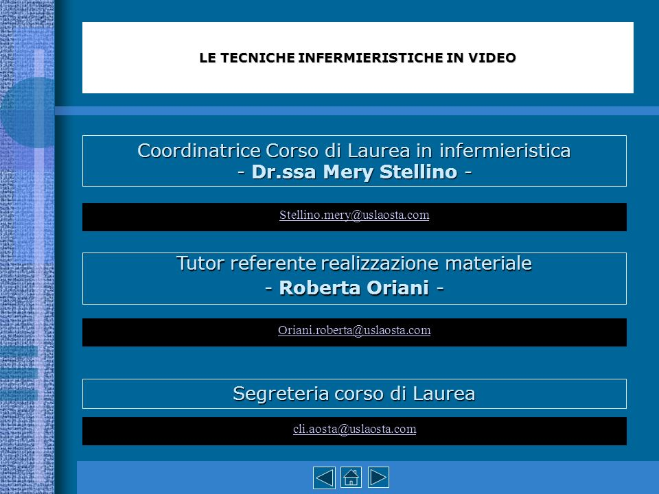 LE TECNICHE INFERMIERISTICHE IN VIDEO