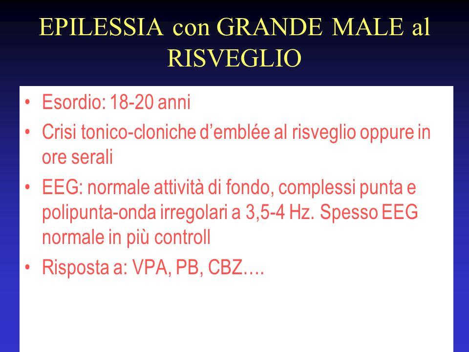 EPILESSIA con GRANDE MALE al RISVEGLIO