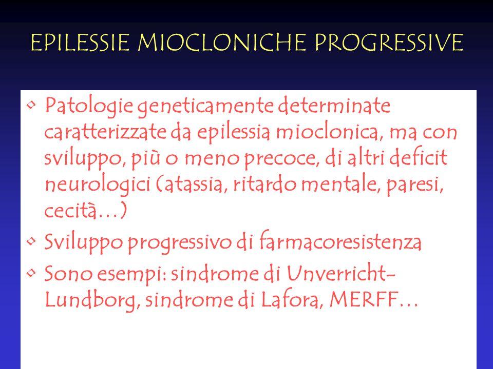EPILESSIE MIOCLONICHE PROGRESSIVE