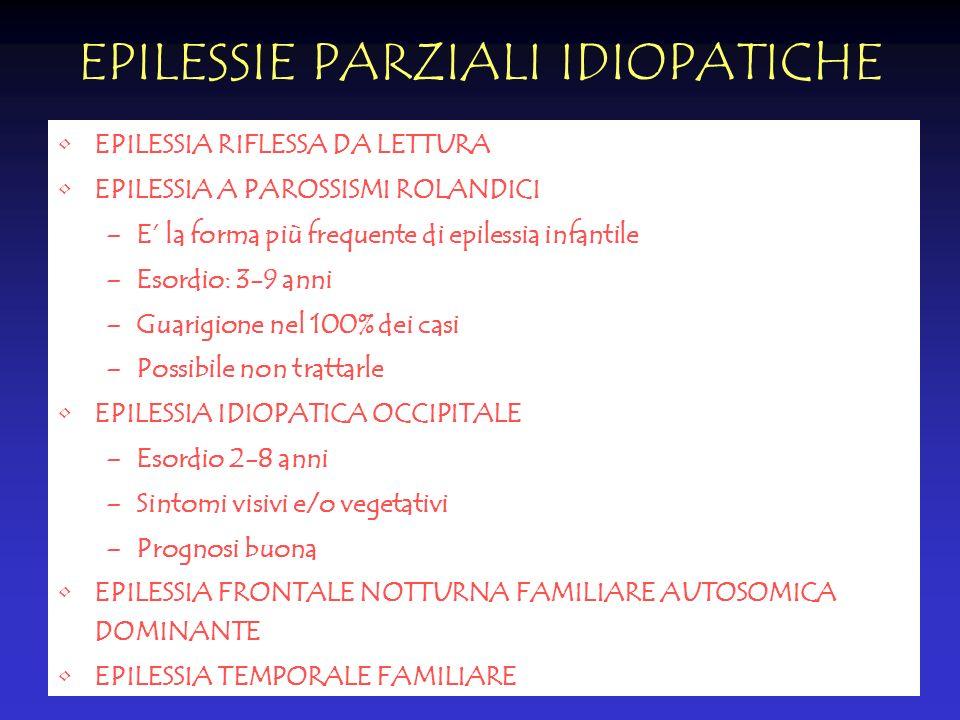 EPILESSIE PARZIALI IDIOPATICHE