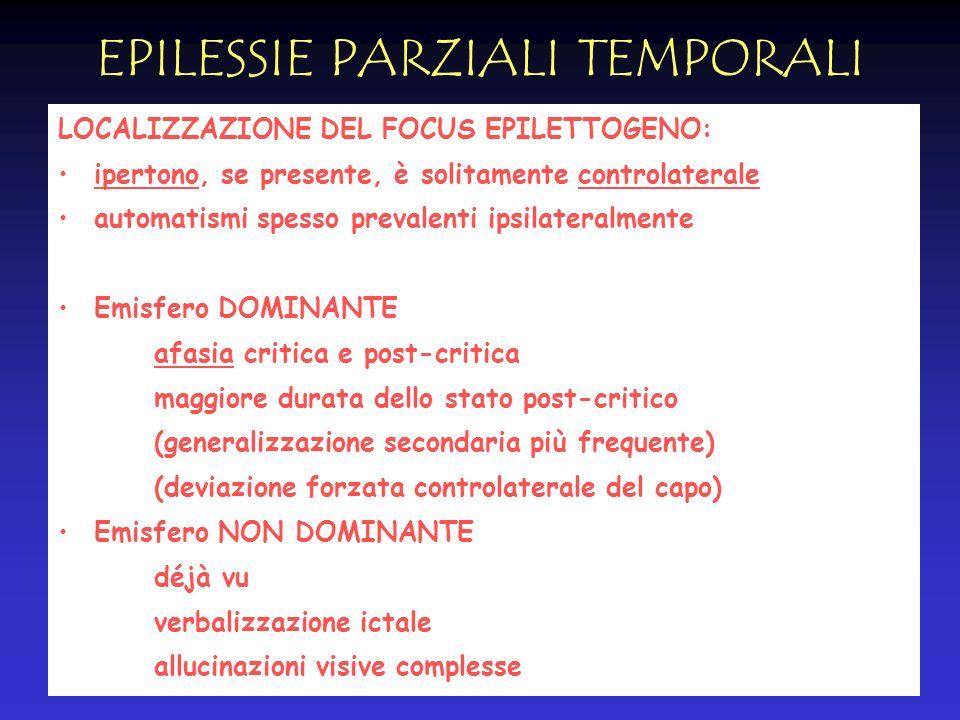 EPILESSIE PARZIALI TEMPORALI