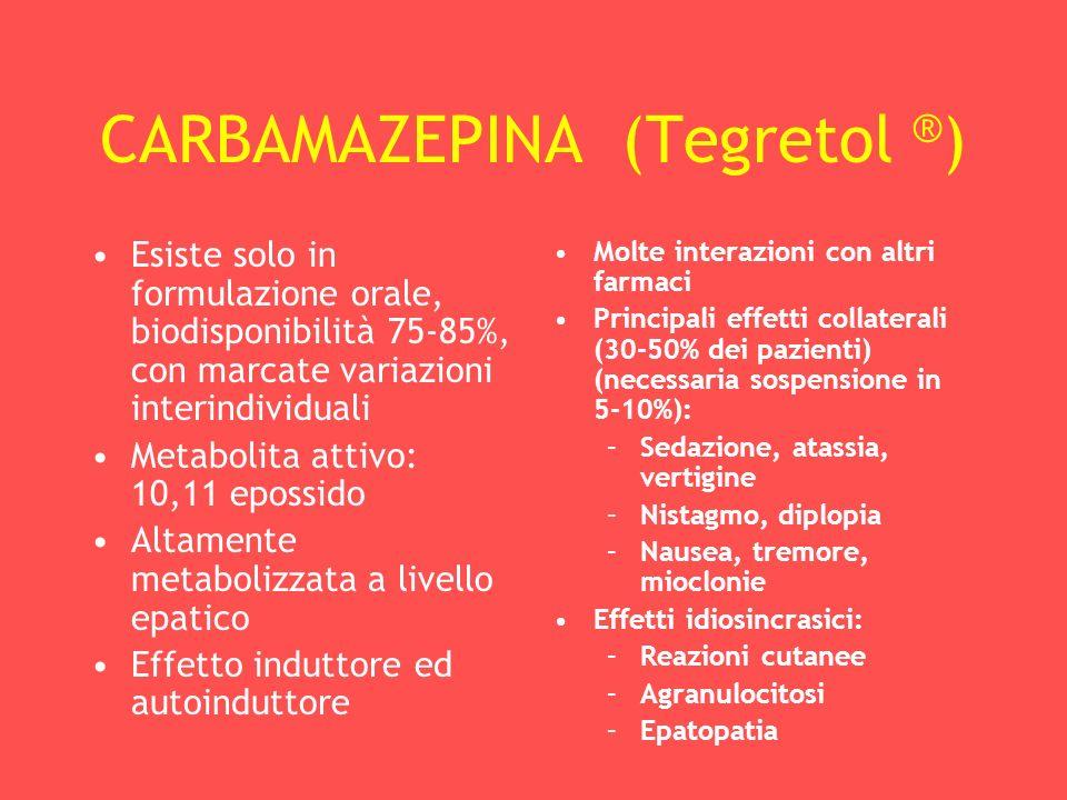 CARBAMAZEPINA (Tegretol ®)