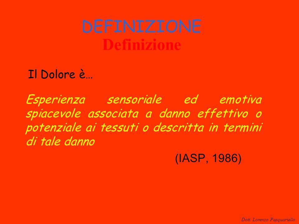 DEFINIZIONE Definizione Il Dolore è…