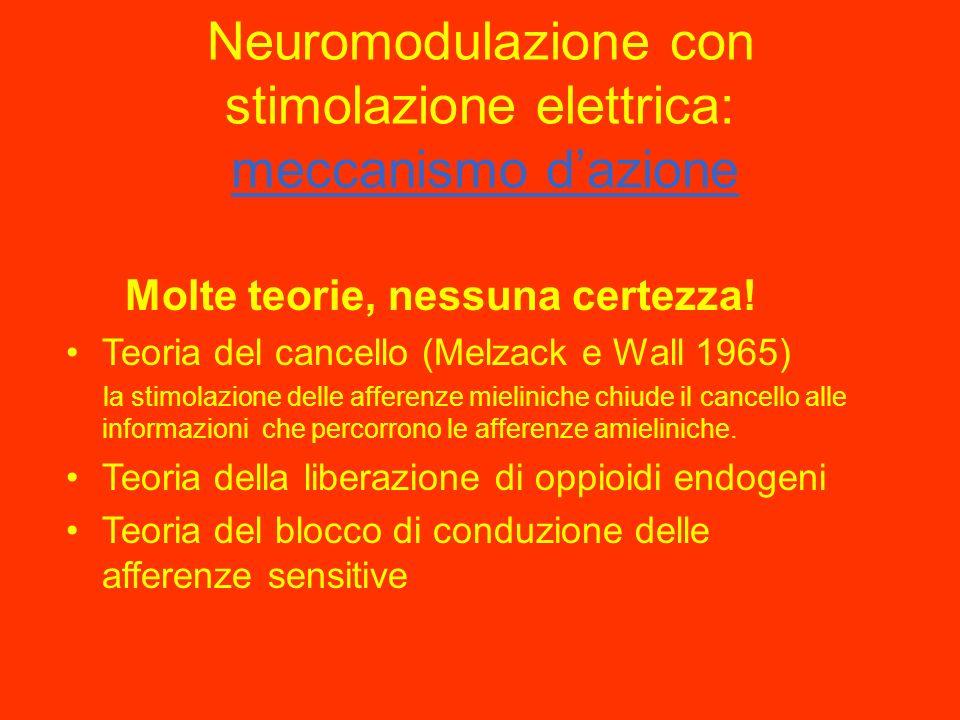 Neuromodulazione con stimolazione elettrica: meccanismo d'azione