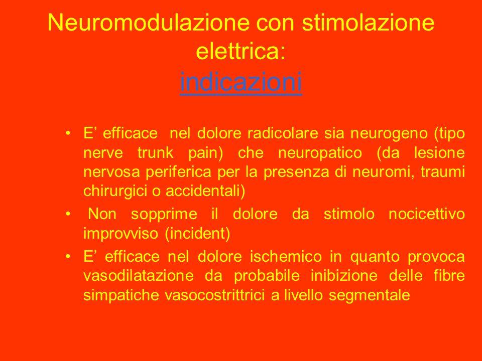 Neuromodulazione con stimolazione elettrica: indicazioni