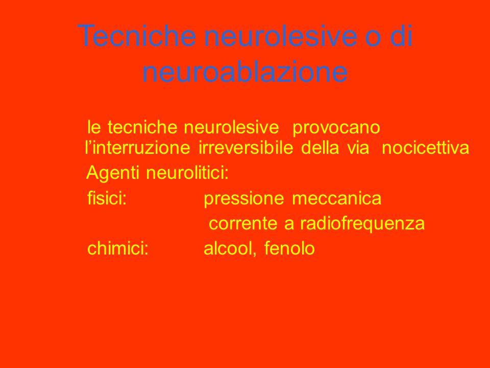 Tecniche neurolesive o di neuroablazione