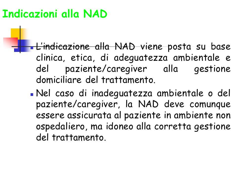 Indicazioni alla NAD