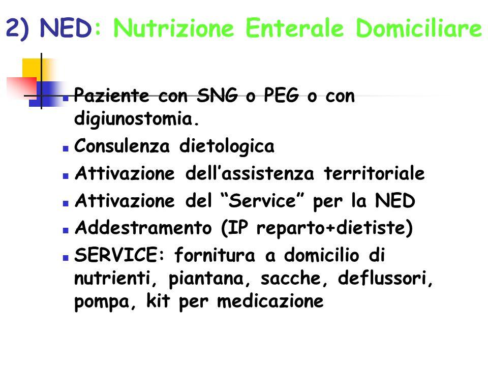 2) NED: Nutrizione Enterale Domiciliare