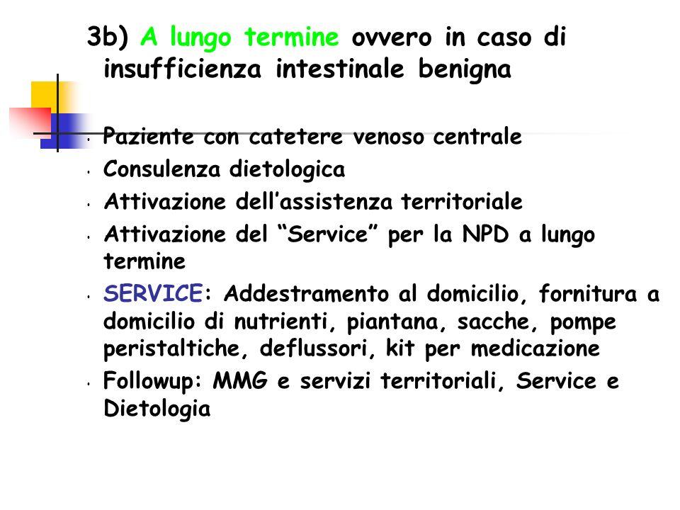 3b) A lungo termine ovvero in caso di insufficienza intestinale benigna