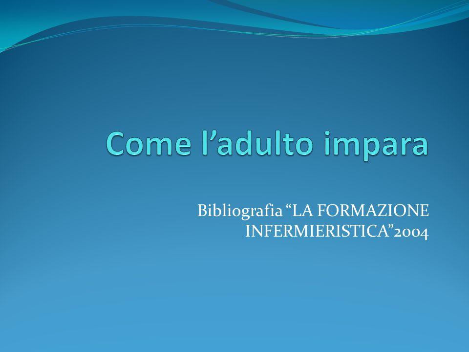 Bibliografia LA FORMAZIONE INFERMIERISTICA 2004