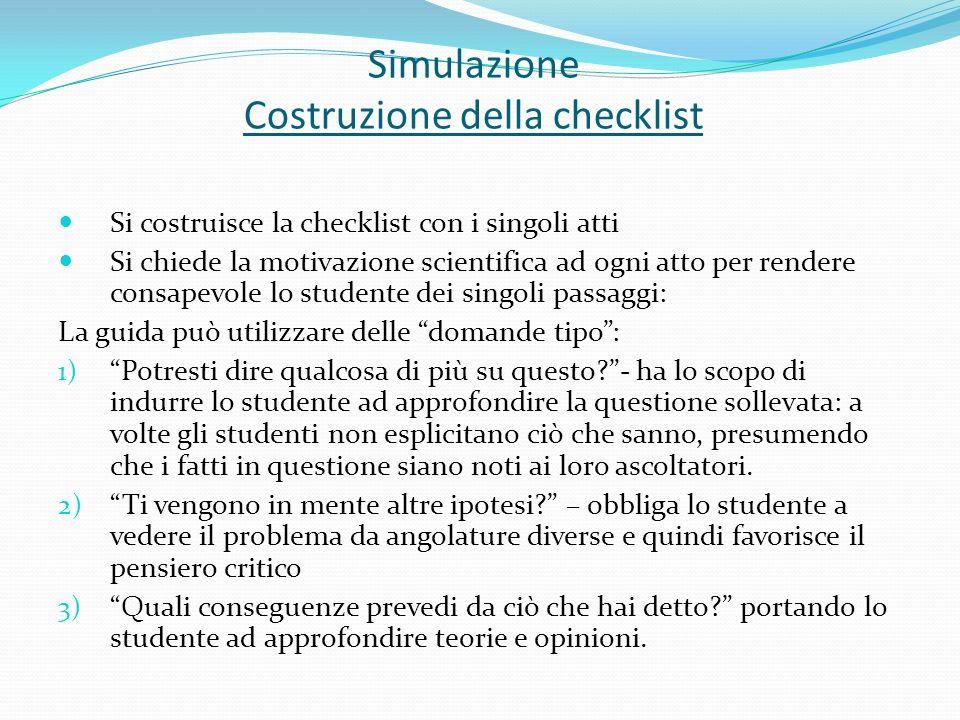 Simulazione Costruzione della checklist
