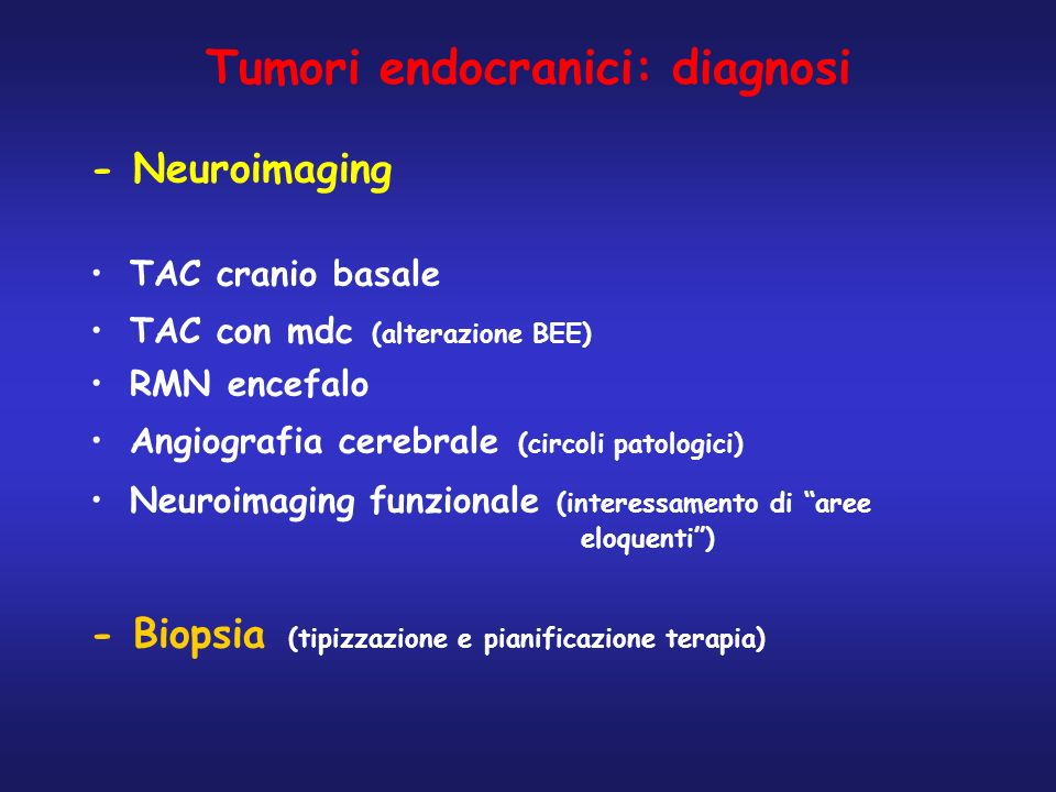 Tumori endocranici: diagnosi