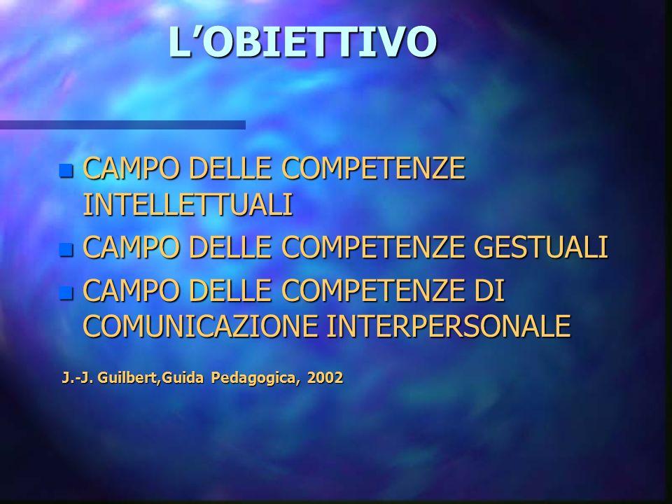 L'OBIETTIVO CAMPO DELLE COMPETENZE INTELLETTUALI