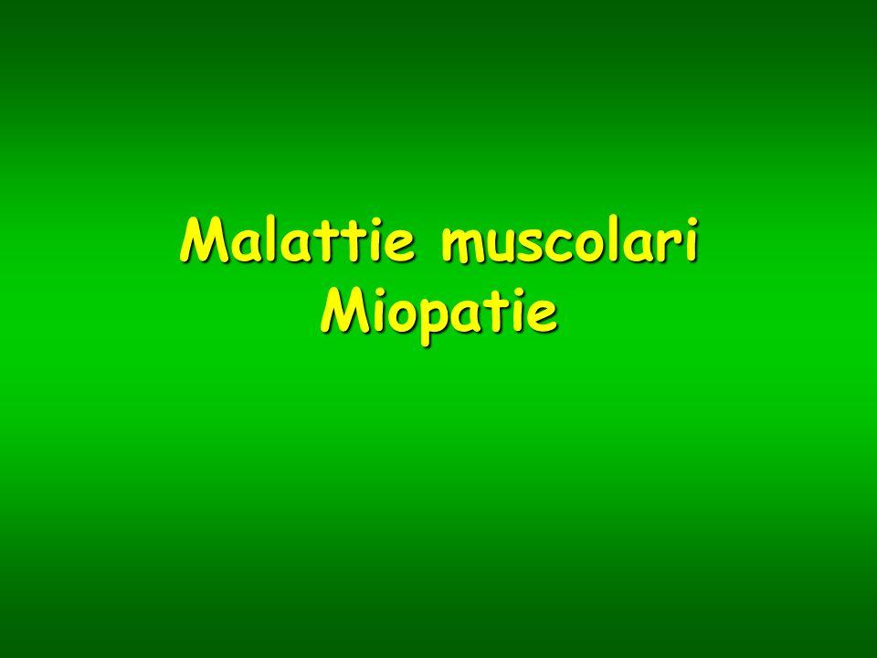 Malattie muscolari Miopatie