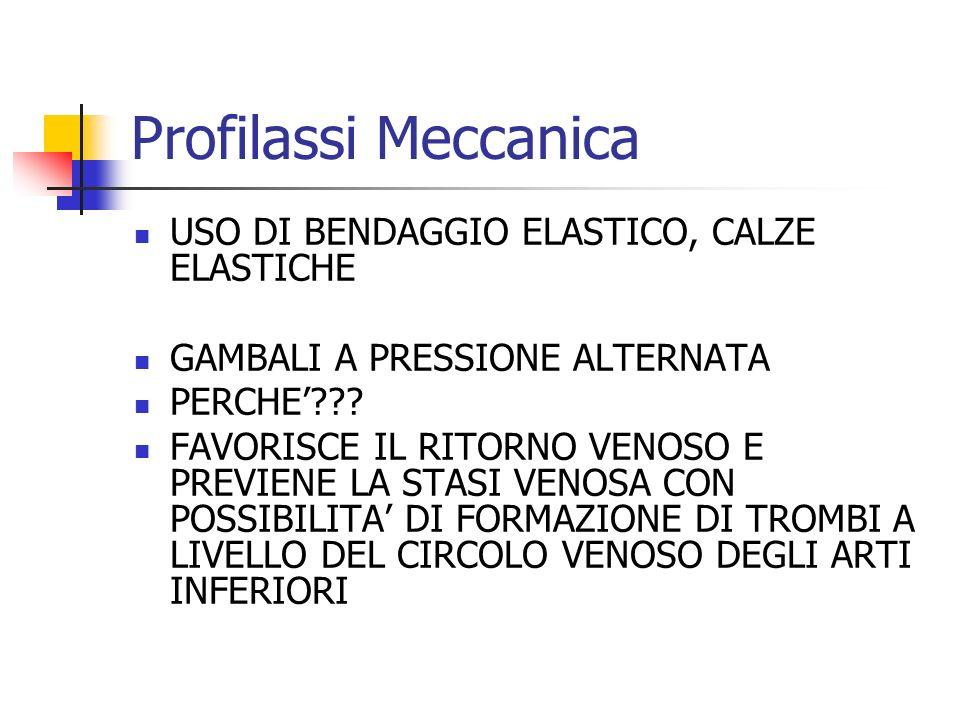 Profilassi Meccanica USO DI BENDAGGIO ELASTICO, CALZE ELASTICHE
