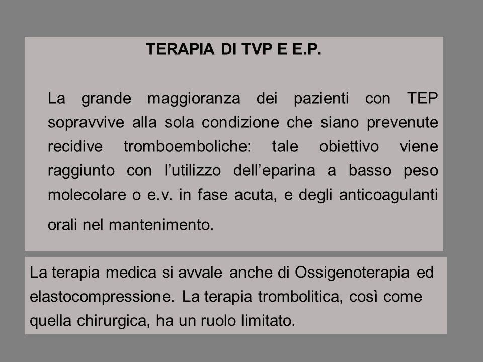 TERAPIA DI TVP E E.P.