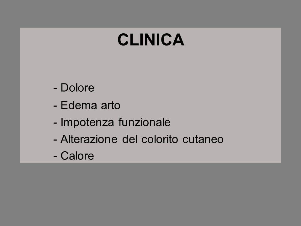 CLINICA - Dolore - Edema arto - Impotenza funzionale