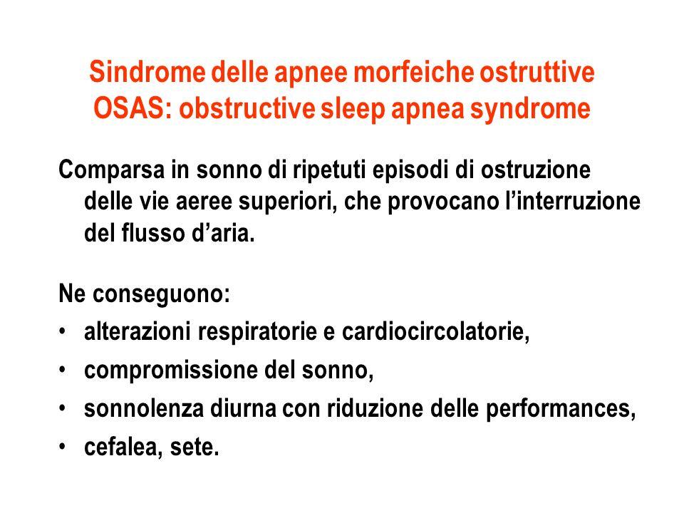 Sindrome delle apnee morfeiche ostruttive OSAS: obstructive sleep apnea syndrome