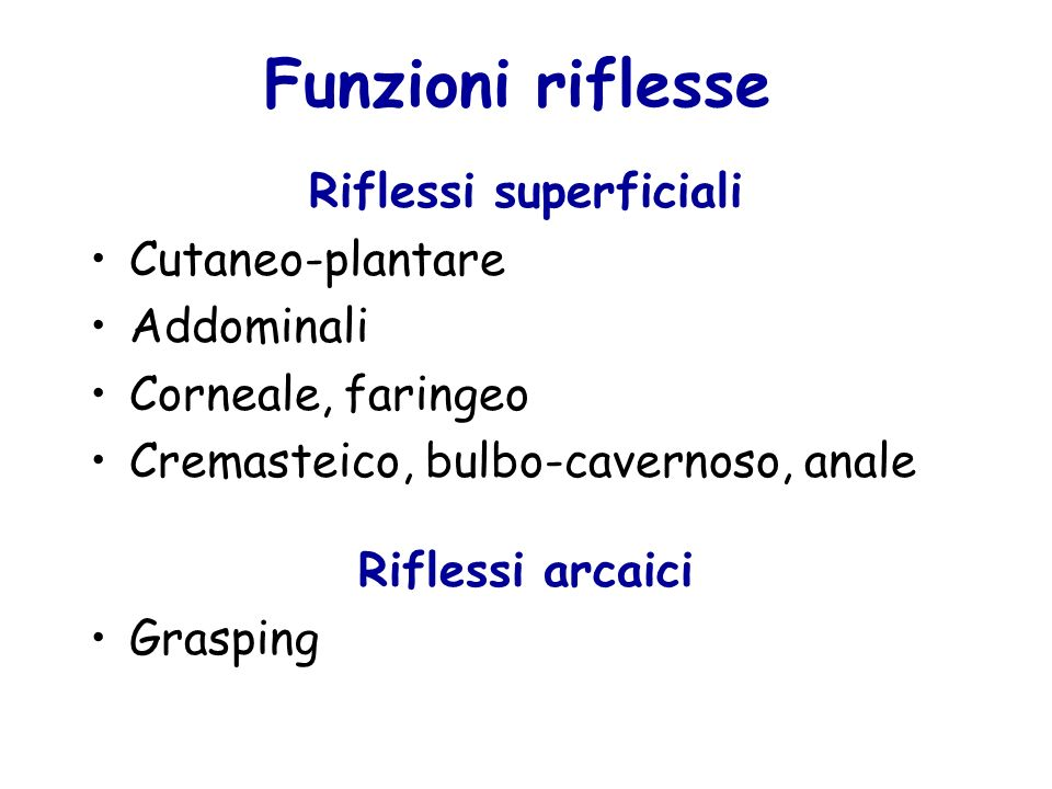 Riflessi superficiali