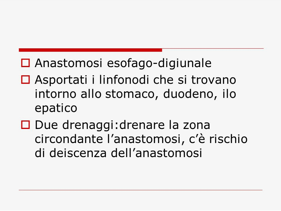 Anastomosi esofago-digiunale