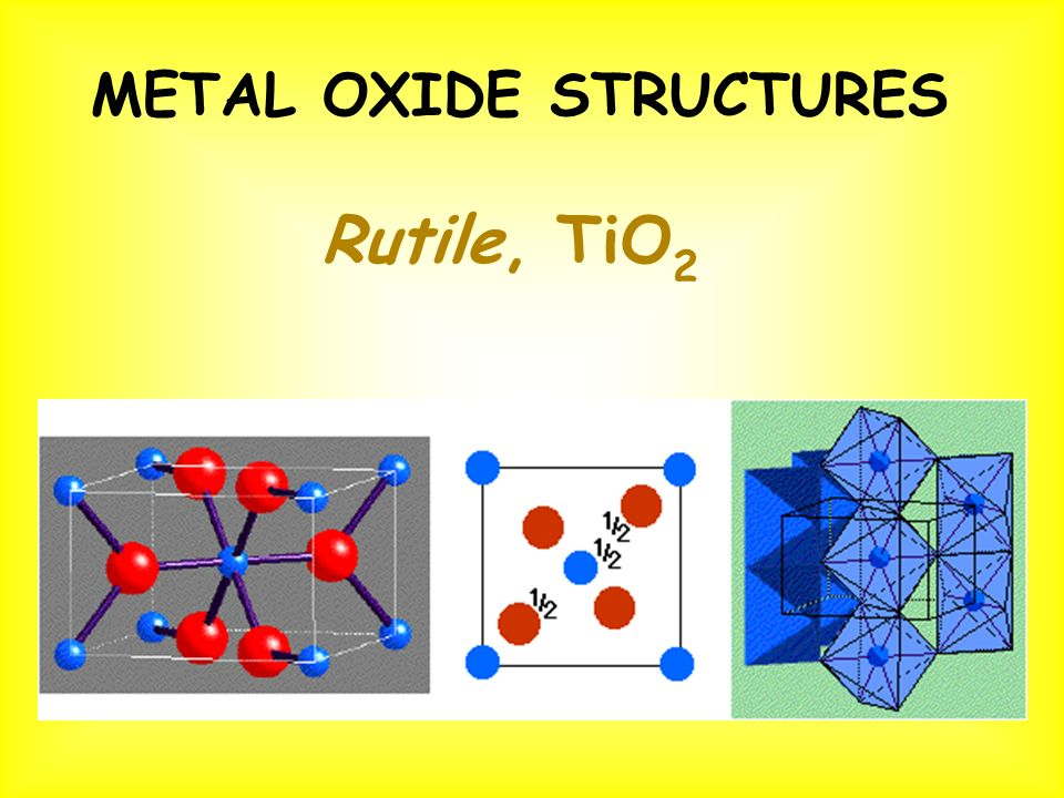 METAL OXIDE STRUCTURES