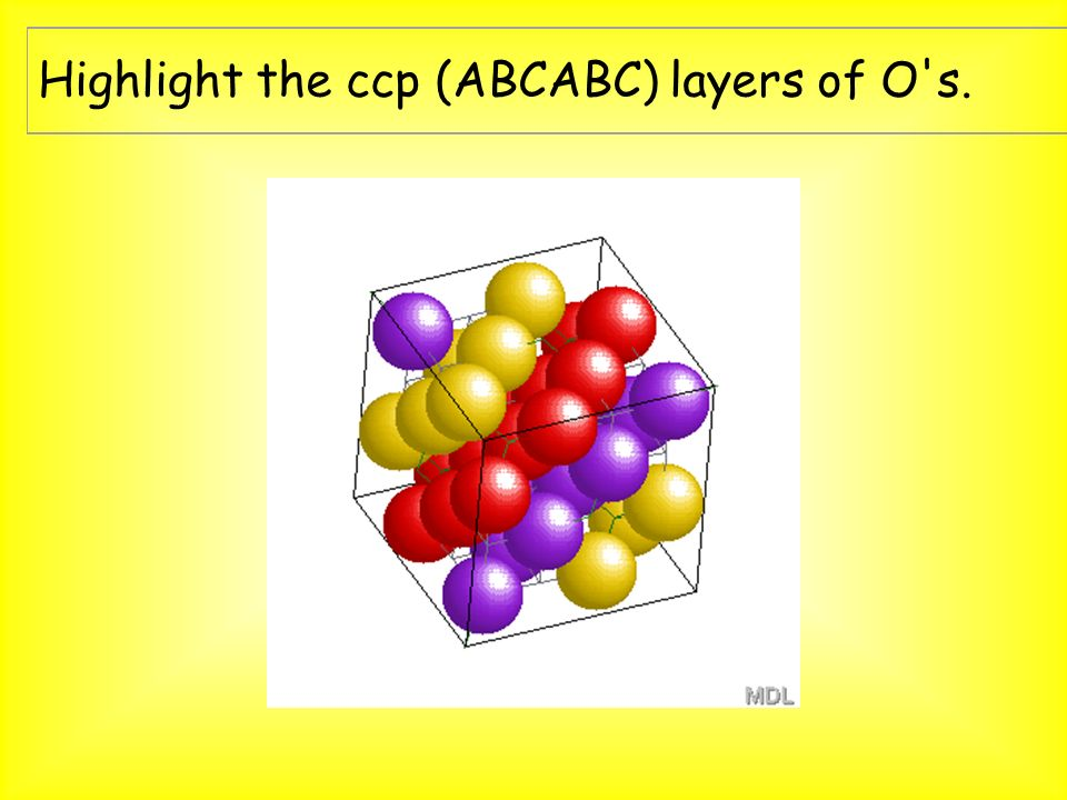 Highlight the ccp (ABCABC) layers of O s.
