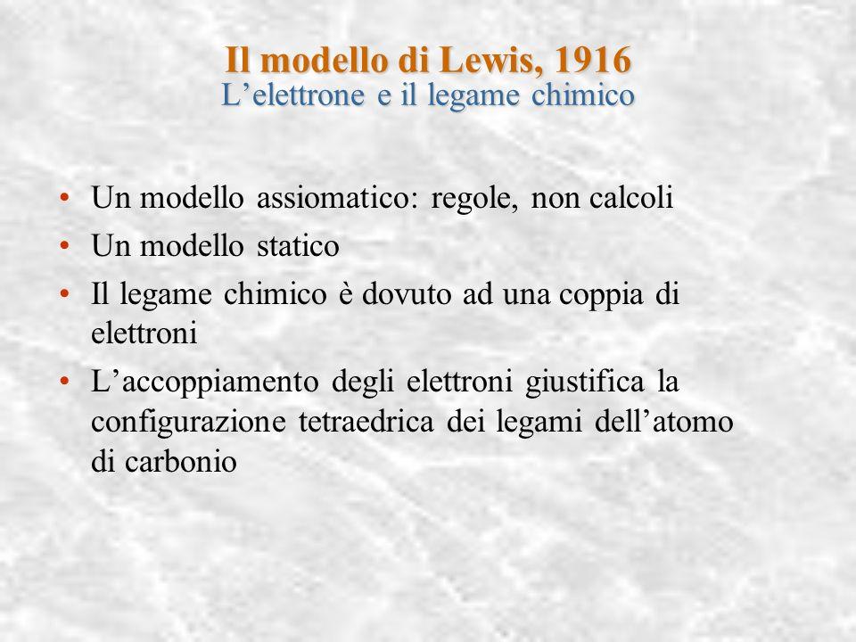 Il modello di Lewis, 1916 L'elettrone e il legame chimico