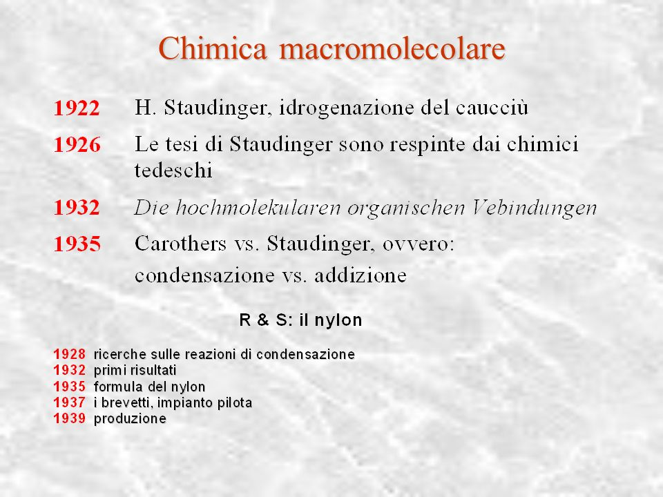 Chimica macromolecolare