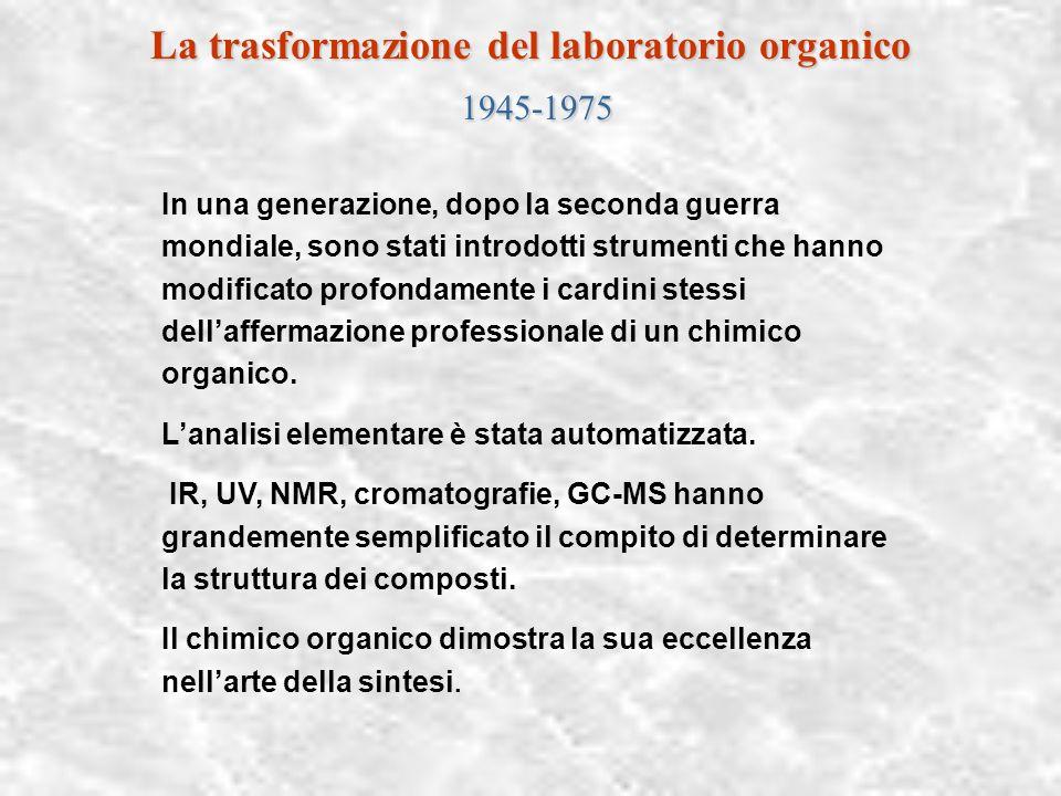 La trasformazione del laboratorio organico 1945-1975