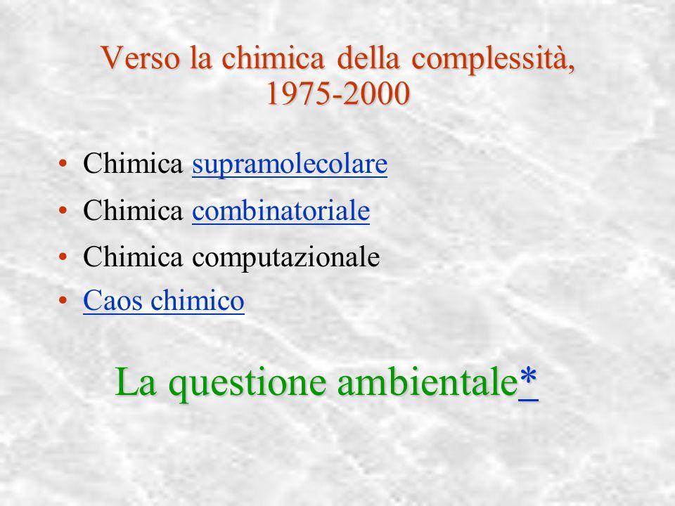 Verso la chimica della complessità, 1975-2000